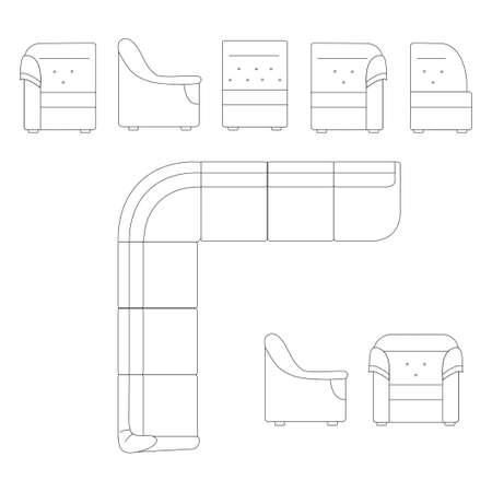 Furniture for a room Illustration