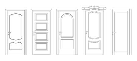 input output: Interroom and entrance doors