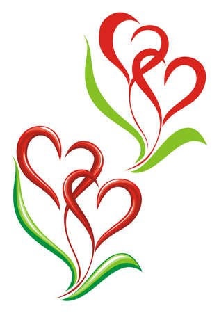 two hearts together:  Valentin sacred Day