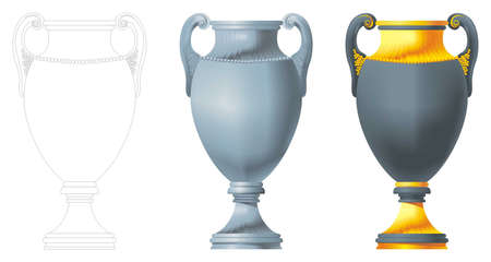 Vase for registration of houses Illustration