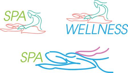 beauty therapist: Spa Design Illustration