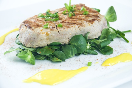 Grilled tuna steak photo