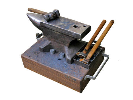 medieval blacksmith: isolated picture of a blacksmiths anvil