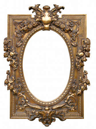 Antique picture frame from the 19. century. Stock Photo