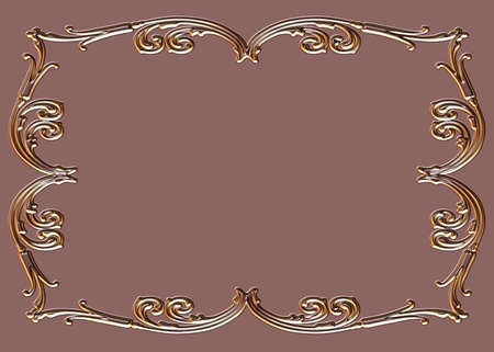 Decorative Empty Design frame Stock Photo