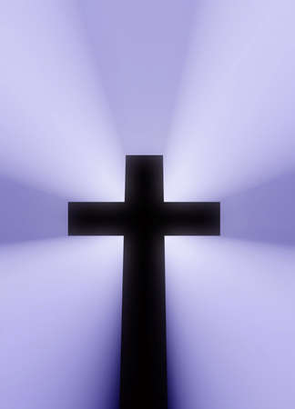 Cross sziluet fats illumination light volume.