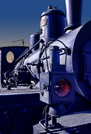 Locomotive detail in the evening light.