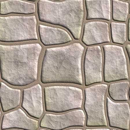 Seamless tileable stonewall background. photo