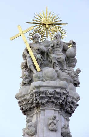 Holy trinity church stone statue.