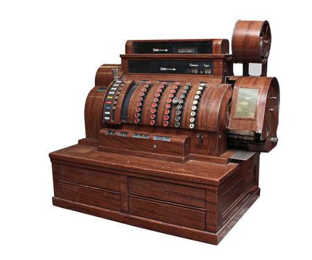 caja registradora: caja registradora del siglo 20, desde el principio.  Foto de archivo
