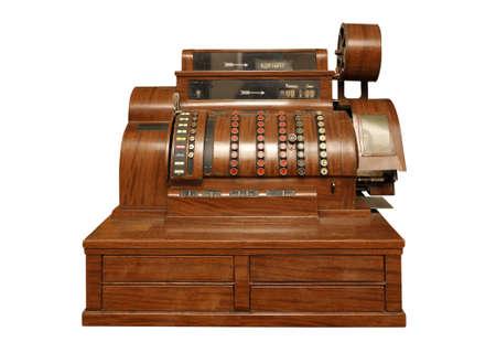 maquina registradora: caja registradora del siglo 20, desde el principio.  Foto de archivo