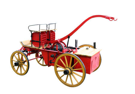Red fire wagon from the beginning of the century.