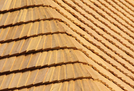 abstract background from the wood shingle roof. Stock Photo - 7709155
