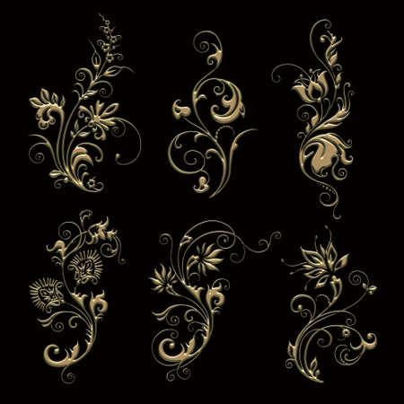 ornament sets 3d embossed pattern