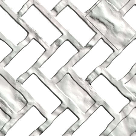 Seamless tileable decorative 3d abstract background pattern  Stock Photo