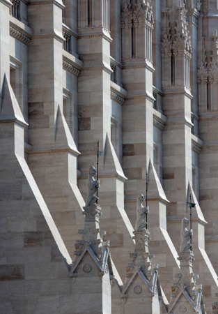neogothic: Neo-Gothic facade decoration of the Hungarian parliament