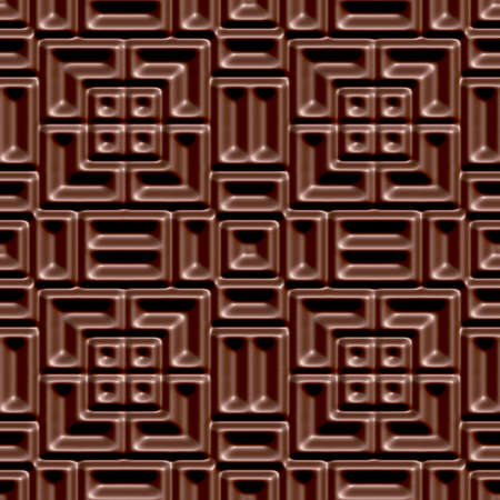 Seamless tileable decorative 3d abstract background pattern.