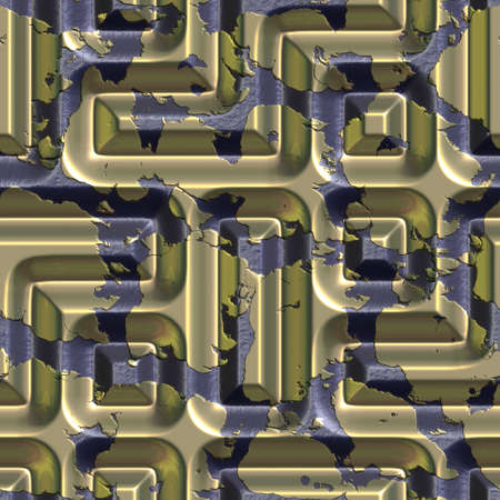 goldish: seamless tileable decorative background pattern