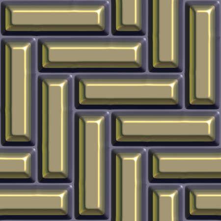 Gold,iron seamless tileable decorative background pattern. Stock Photo