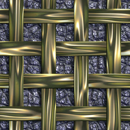 Seamless tileable gold iron decorative background pattern.