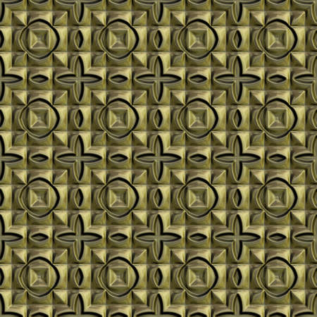 tileable: Gold seamless tileable decorative background pattern Stock Photo