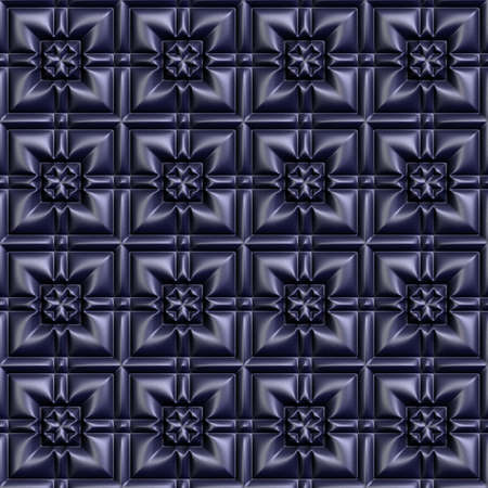 tileable: Metal seamless tileable decorative background pattern. Stock Photo