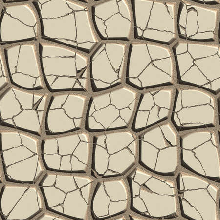 Cracked stone pavement seamless tileable decorative background pattern.