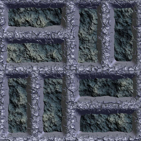 slag: metal and slag seamless tileable decorative background pattern Stock Photo
