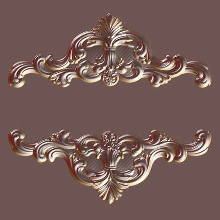 3d swirl floral luxury background decorative ornament.