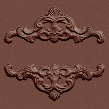 3d swirl floral luxury leather background decorative ornament.