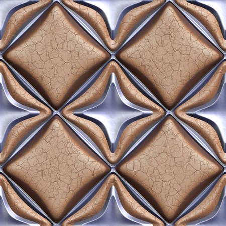panelling: 3d seamless tileable decorative background pattern.
