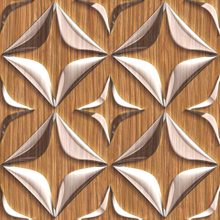 Wood surfaces with glass pattern.