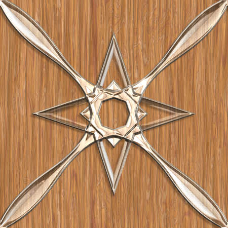 Wood surfaces sparkling glass tile seamless pattern.