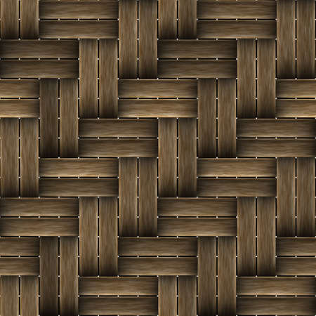 Wicker wood pattern seamless tille bacground decorations.