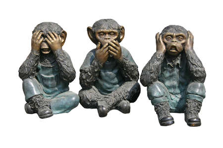 Three monkeys, can not see, can not speak or hear.
