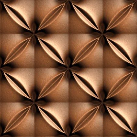 Brown Skin Illustrations, 3D seamless background pattern. Stock Photo