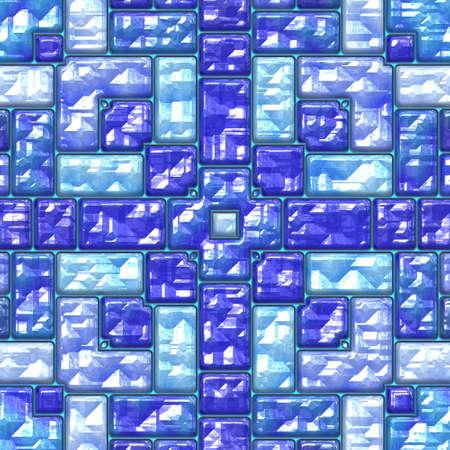 Blauw kristal oppervlak naadloos patroon. Stockfoto