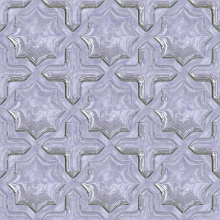 Seamless tileable glass decorative background pattern. Stock Photo