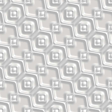 Seamless tileable decorative white background pattern.