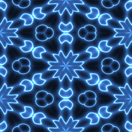 3D effect seamless blue background, wallpaper decoration pattern. Stock Photo