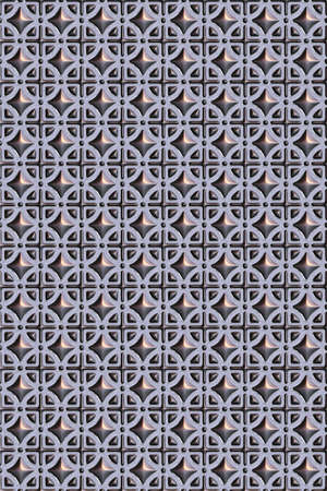 Seamless tileable decorative metal, glass background pattern.