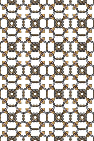 3d effect seamless background wallpaper metal tiled pattern.