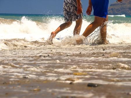 seacoast: Walk barefoot on seacoast