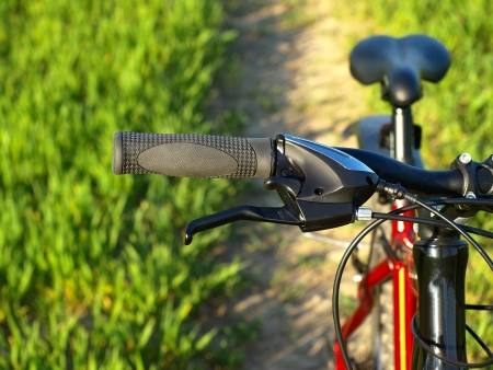 Mountain bicycle at sunny day         Stock Photo