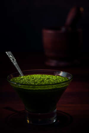 Authentic pesto made in the traditional Italian style