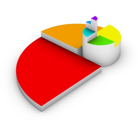 spiritual growth: golden ratio diagram Stock Photo