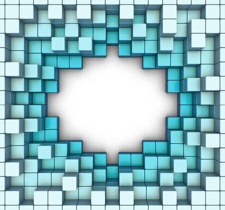 labirinth: abstract cubes backgriund
