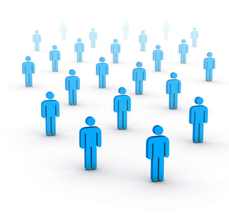 employment issues: large group of people
