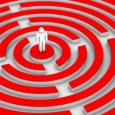 man and labirinth