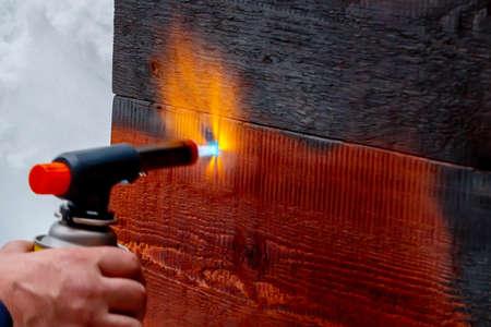 Wood firing using the old Japanese method